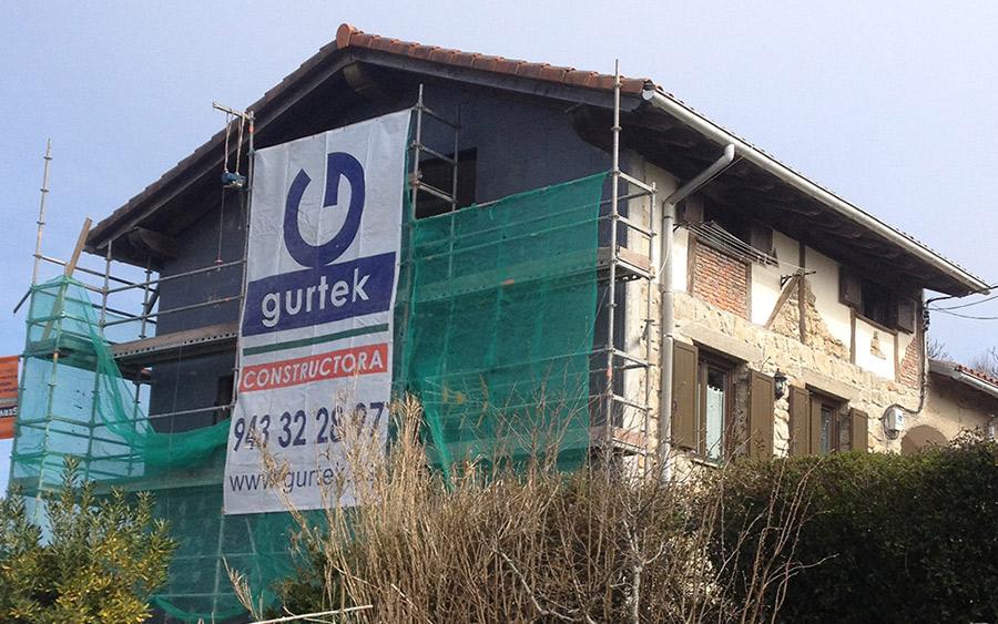 Aislamiento de fachada extrior de una vivienda